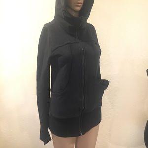 Kirkland black zip up sweater coat